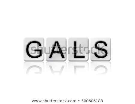gals isolated tiled letters concept and theme stock photo © enterlinedesign