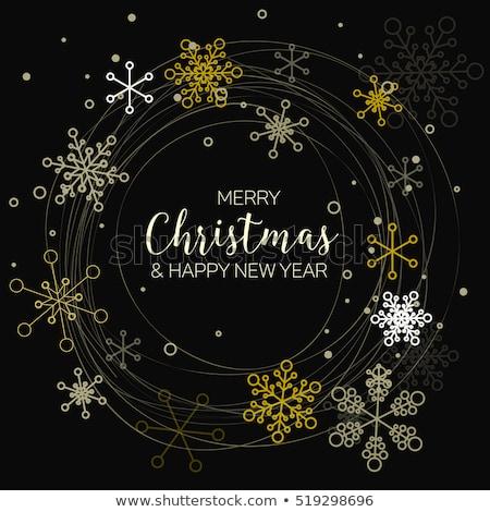 dark retro simple christmas card stock photo © orson