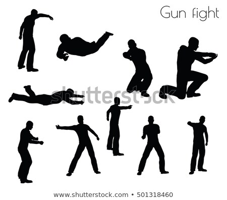 man in gunfight Action pose Stock photo © Istanbul2009