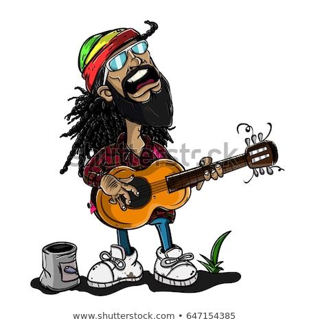 Reggae kultúra terv 10 buli tánc Stock fotó © sdCrea