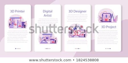 3D · impressora · impressão · pizza · azul · máquina - foto stock © pakete
