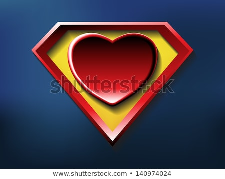 Karikatür büyük kırmızı kalp ikon örnek Stok fotoğraf © benchart