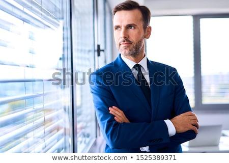 Retrato pensativo empresário cópia espaço em pé Foto stock © stevanovicigor