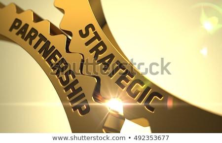 Vertrag Herstellung golden 3D-Darstellung Mechanismus Stock foto © tashatuvango