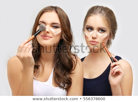 Adolescente composent femme beauté lèvres Photo stock © monkey_business