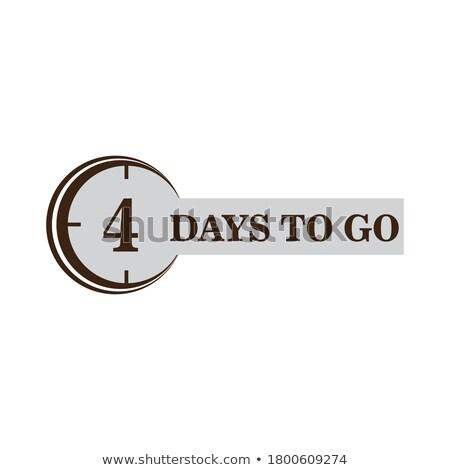elegant number of days left marketing and promotional banner Stock photo © SArts