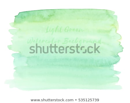 Green fresh grass on a paint brush on a pastel green background, copy space. Painting spring landsca Stock photo © artjazz