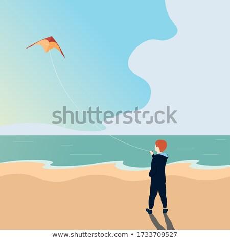 Boy and kite Stock photo © colematt