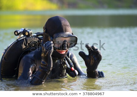 sea adventure person wearing diving equipment stock photo © robuart