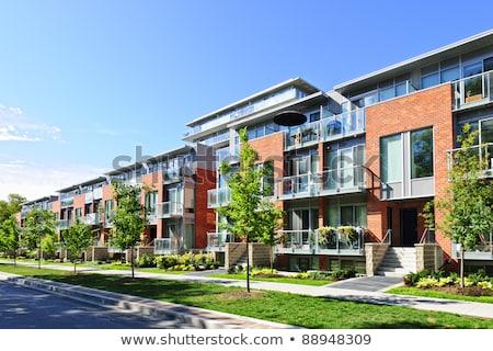 Modern daire evler çok Berlin Almanya Stok fotoğraf © elxeneize