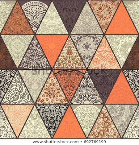 Oranje mandala patroon illustratie yoga borden Stockfoto © bluering