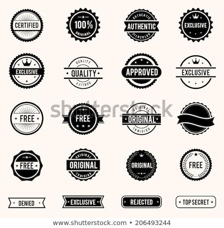 Original certificado qualidade borracha selar selos Foto stock © SArts