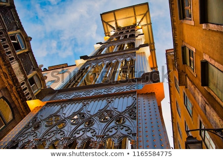Santa Justa Elevator In Lisbon Stock photo © searagen
