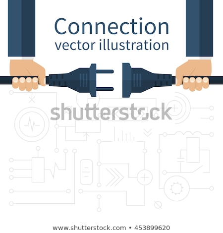 Electrician holding a plug socket Stock photo © photography33