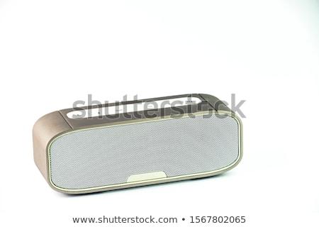 Stock fotó: Hangfalak · fekete · technológia · háttér · sötét · hang