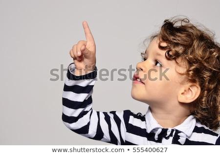 Fiú ujj felfelé pozitív 5 éves izolált Stock fotó © Elegies