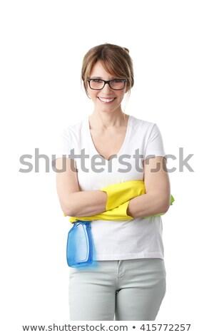 Takarító karok fehér kéz boldog kék Stock fotó © wavebreak_media