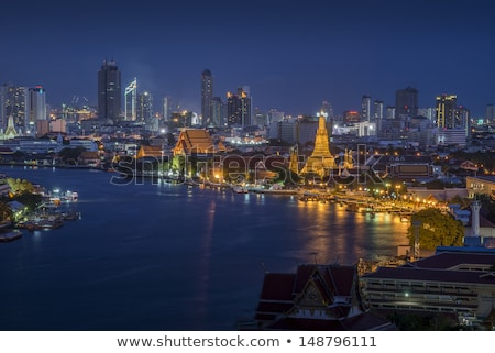 Widoku Bangkok panoramę wygaśnięcia działalności Zdjęcia stock © meinzahn