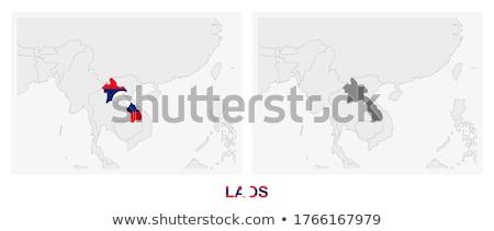 Cinza Laos mapa administrativo cidade asiático Foto stock © Volina