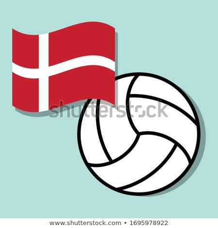 Volleybal team geïsoleerd achtergrond vlag Stockfoto © bosphorus
