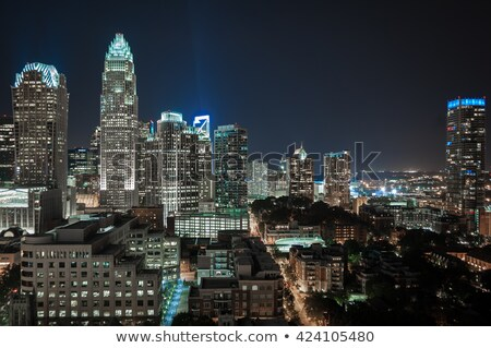 charlotte city skyline at night stock photo © alex_grichenko