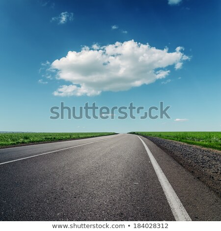 one big cloud and asphalt road stock photo © mycola