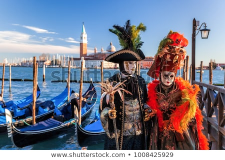 woman with carnival mask in venice stock photo © nejron