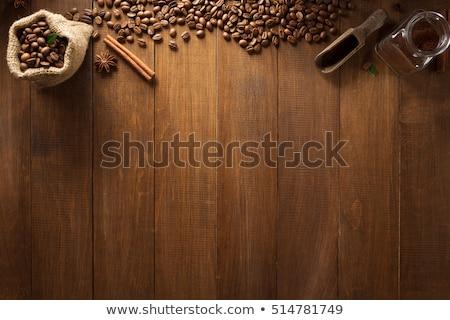 csokoládé · szelet · kávébab · fűszer · étel · fa · csokoládé - stock fotó © rob_stark