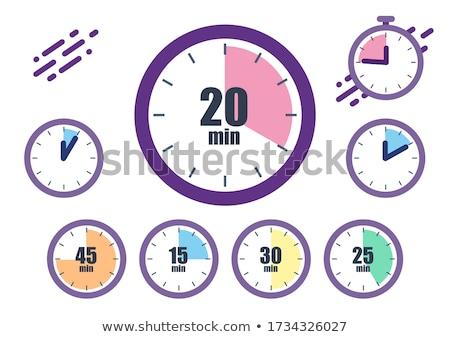 Saat vektör kırmızı web simgesi düğme Stok fotoğraf © rizwanali3d