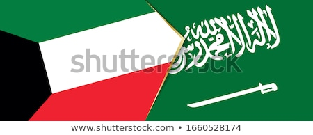 Arábia Saudita Kuweit bandeiras quebra-cabeça isolado branco Foto stock © Istanbul2009