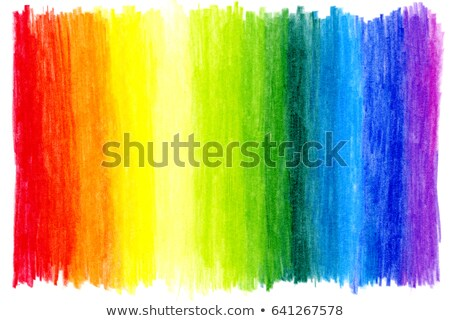 rainbow colored crayons Stock photo © rikke