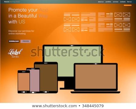 1 現代 ウェブサイト テンプレート アプリ ストックフォト © DavidArts