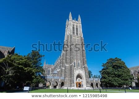 Kápolna égbolt épület város nyár kő Stock fotó © pazham