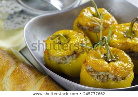 Yellow pepper stuffed with ground meat Stock photo © Digifoodstock