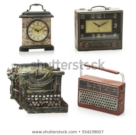 Retro bruin illustratie muziek achtergrond kunst Stockfoto © bluering