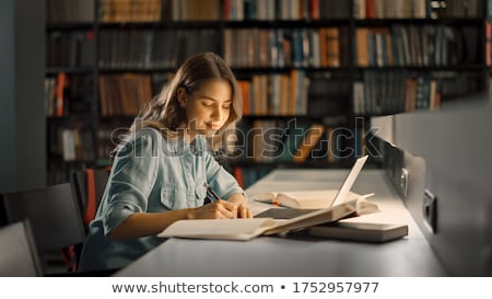 Portrait of students in library Stock photo © IS2