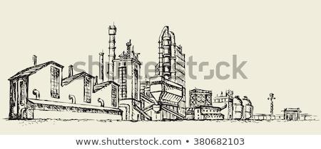 Sketched Industrial Smokestacks Stock photo © blamb