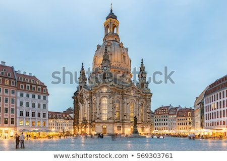 City of Dresden with Frauenkirche Stock photo © manfredxy