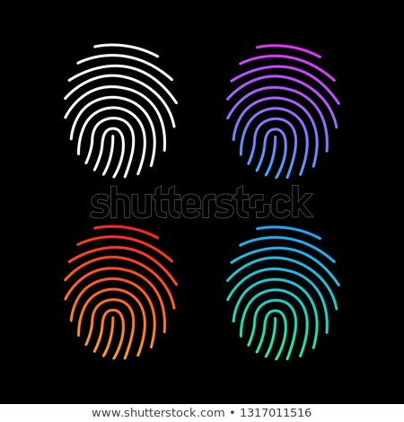 different modern gradient fingerprint icons set future identification authorization system vector stock photo © kyryloff