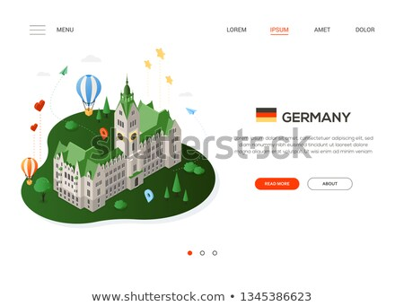 visit germany   modern colorful isometric web banner stock photo © decorwithme