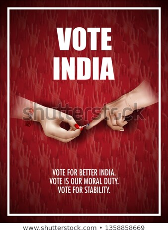 election of india concept poster Stock photo © SArts