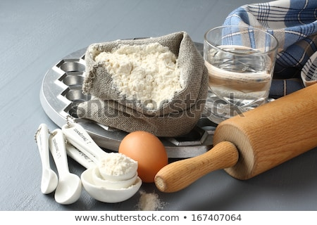 Ingredients and tools to make russian pelmeni Stock photo © Melnyk