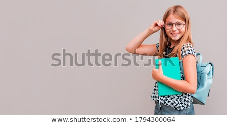 teenage student girl with notebook at school Stock photo © dolgachov