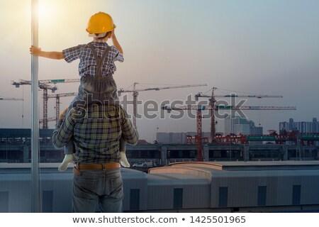 建設作業員 · 垂直 · レベル · ツール · 建設 · 壁 - ストックフォト © lopolo