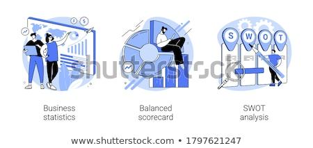 Statistical data vector concept metaphor. Stock photo © RAStudio
