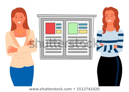 Woman Consultants and Infoboard, Financial People Stock photo © robuart