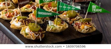Nachos home vruchten groene mais Mexicaanse Stockfoto © Hofmeester