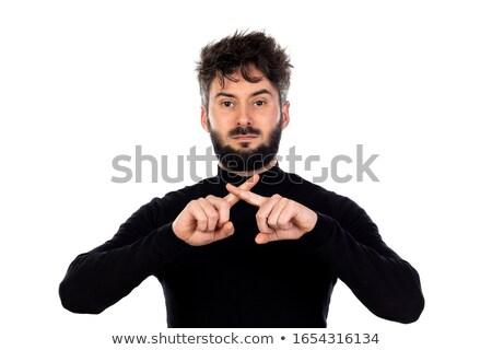 にログイン 外に 男 スペイン国旗 禁止 スペイン ストックフォト © artjazz