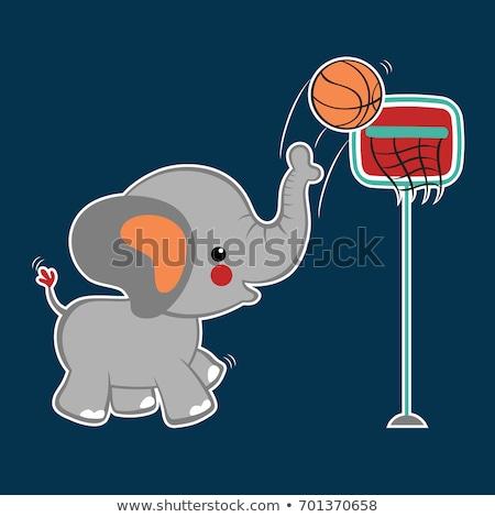 Basket éléphant cartoon illustration jouer sport Photo stock © bennerdesign