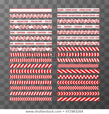 Piros fehér vigyázat végtelenített keretek szett Stock fotó © evgeny89
